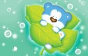 韩国卡通蓝色小熊 Blue Bear 插画壁纸
