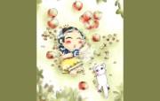 韩国卡通女孩壁纸 Ruji Roka 插画壁纸