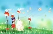 韩国矢量插画缤纷奇幻乐园 插画壁纸