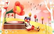 韩国矢量插画 缤纷奇幻乐园 卡通矢量插画 森林的音乐1920 1200 韩国矢量插画缤纷奇幻乐园 插画壁纸