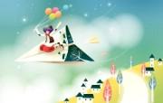韩国矢量插画 缤纷奇幻乐园 卡通矢量插画壁纸 我的纸飞机 1920 1200 韩国矢量插画缤纷奇幻乐园 插画壁纸