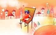 韩国矢量插画 缤纷奇幻乐园 卡通矢量插画 秋天的想念 1920 1200 韩国矢量插画缤纷奇幻乐园 插画壁纸