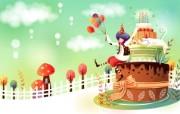 韩国矢量插画 缤纷奇幻乐园 卡通矢量插画 生日快乐 1920 1200 韩国矢量插画缤纷奇幻乐园 插画壁纸