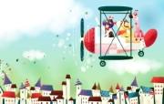 韩国矢量插画 缤纷奇幻乐园 卡通矢量插画 我会开飞机 1920 1200 韩国矢量插画缤纷奇幻乐园 插画壁纸