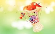 韩国矢量插画 缤纷奇幻乐园 卡通矢量插画 热气球1920 1200 韩国矢量插画缤纷奇幻乐园 插画壁纸