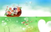 韩国矢量插画 缤纷奇幻乐园 卡通矢量插画 钓鱼 1920 1200 韩国矢量插画缤纷奇幻乐园 插画壁纸