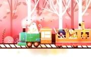 韩国矢量插画 缤纷奇幻乐园 卡通矢量插画 森林小火车 1920 1200 韩国矢量插画缤纷奇幻乐园 插画壁纸