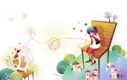 韩国矢量插画 缤纷奇幻乐园 韩国矢量插画壁纸 爱猫日记 1920 1200 韩国矢量插画缤纷奇幻乐园 插画壁纸