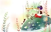 韩国矢量插画 缤纷奇幻乐园 卡通矢量插画 望远镜 1920 1200 韩国矢量插画缤纷奇幻乐园 插画壁纸