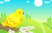 韩国矢量插画 春天 春天矢量图风景 Desktop Wallpaper of Spring Vector illustration 韩国矢量插画春天 插画壁纸