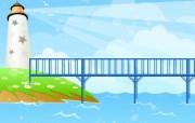 韩国矢量插画夏天的童话 插画壁纸