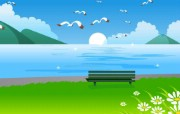 韩国矢量插画 夏天的童话 夏天主题矢量插画 Vector illustration desktop of Summer 韩国矢量插画夏天的童话 插画壁纸