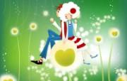 韩国四季插画可爱女孩 插画壁纸