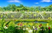 春天的花园 韩国精品风景CG壁纸 韩国唯美精品CG设计集 插画壁纸