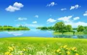 夏天的花园 韩国精品风景CG壁纸 韩国唯美精品CG设计集 插画壁纸