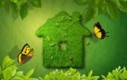 绿色小屋 精美PS设计壁纸 韩国唯美精品CG设计集 插画壁纸