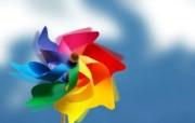 彩色玩具风车 韩国精品CG壁纸 韩国唯美精品CG设计集 插画壁纸