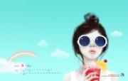 Enakei壁纸 Jennie5月图片壁纸 韩国文具品牌Pinkfoot 2009月历插画壁纸 插画壁纸
