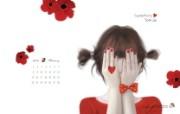 Enakei插画 Jennie图片壁纸 韩国文具品牌Pinkfoot 2009月历插画壁纸 插画壁纸