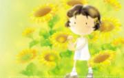 花香满径壁纸 插画壁纸