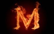 M 燃烧效果26英文字母图片 1920 1600 火焰字母与火焰数字设计壁纸 插画壁纸