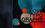 I Love Typography 宽屏设计壁纸 Circles桌面壁纸 I Love Typography 宽屏设计壁纸 插画壁纸