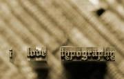 I Love Typography 宽屏设计壁纸 Metal桌面壁纸 I Love Typography 宽屏设计壁纸 插画壁纸