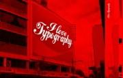 I Love Typography 宽屏设计壁纸 Kreacom桌面壁纸 I Love Typography 宽屏设计壁纸 插画壁纸