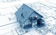 3D建筑建筑施工图 建筑蓝图 插画壁纸