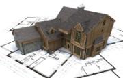 3D建筑施工图 建筑蓝图 插画壁纸