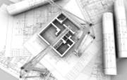 建筑施工图 建筑蓝图 插画壁纸