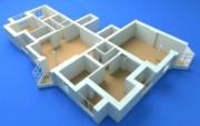 3D建筑施工蓝图 建筑蓝图 插画壁纸