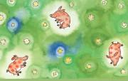 几米漫画绘本 森林唱游 几米漫画绘本 森林唱游 Desktop Wallpaper of Art book SINGING IN THE FOREST 几米漫画绘本森林唱游 插画壁纸