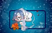 星座 狮子座壁纸 图片Leo Astrology Horoscopes Wallpaper 卡通12星座壁纸 插画壁纸