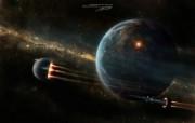 撤离地球 CG宇宙星球壁纸 科幻宇宙星球CG壁纸 插画壁纸