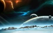 CG宇宙星球壁纸 1920 1200 科幻宇宙星球CG壁纸 插画壁纸