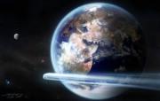 地球2584年 CG宇宙星球壁纸 科幻宇宙星球CG壁纸 插画壁纸