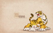 生肖虎卡通 KittenDream 奇童梦乐2009年卡通壁纸 插画壁纸