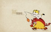 生肖猪卡通 KittenDream 奇童梦乐2009年卡通壁纸 插画壁纸