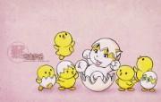 生肖鸡卡通 KittenDream 奇童梦乐2009年卡通壁纸 插画壁纸