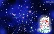处女座卡通 KittenDream 奇童梦乐2009年卡通壁纸 插画壁纸