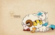 生肖羊卡通 KittenDream 奇童梦乐2009年卡通壁纸 插画壁纸
