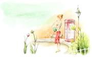 浪漫都市 柔美韩国插画壁纸 浪漫都市风景韩国插画 插画壁纸