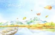 浪漫风景 柔美韩国插画壁纸 浪漫都市风景韩国插画 插画壁纸