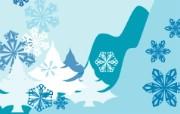 蓝色冬季 冬季雪花矢量背景 矢量冬季背景 单色设计 1920 1600 蓝色冬季冬季雪花矢量背景 插画壁纸