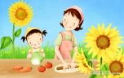 母亲节主题 可爱韩国插画壁纸 温馨母亲节图片 母亲节插画壁纸 母亲节主题韩国插画壁纸 插画壁纸