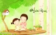 母亲节主题 可爱韩国插画壁纸 母亲节图片 母亲节韩国插画图片 母亲节主题韩国插画壁纸 插画壁纸