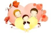 母亲节主题 可爱韩国插画壁纸 可爱韩国插画壁纸 温馨家庭插画 母亲节主题韩国插画壁纸 插画壁纸