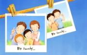 母亲节主题 可爱韩国插画壁纸 幸福家庭插画 可爱韩国插画壁纸 母亲节主题韩国插画壁纸 插画壁纸