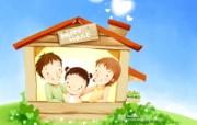 母亲节主题 可爱韩国插画壁纸 韩国插画壁纸 快乐家庭卡通插画 母亲节主题韩国插画壁纸 插画壁纸